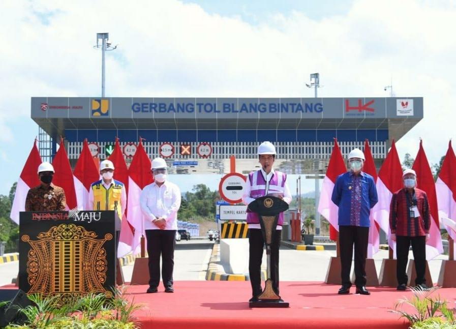 Presiden Jokowi Resmikan Jalan Tol Sigli - Banda Aceh