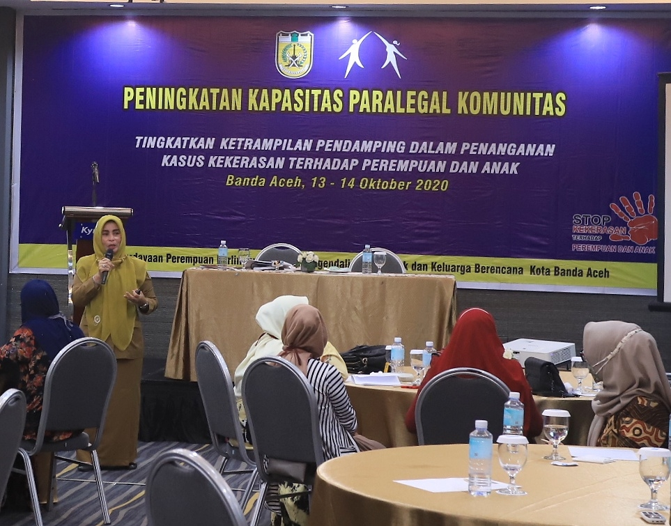 Dampingi Korban Kekerasan, DP3AP2KB Kota Banda Aceh Latih Paralegal Komunitas